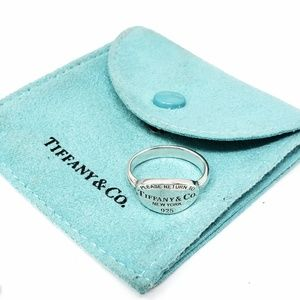 Return to Tiffany Sterling Ring Size 7